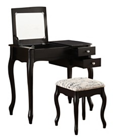 Evie Vanity Set with Bench and Mirror