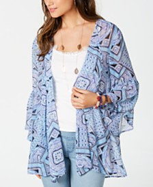 Style & Co Printed Chiffon Kimono Cardigan, Created for Macy's