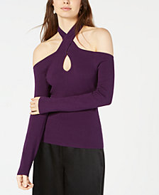 Bar III Keyhole Sweater, Created for Macy's