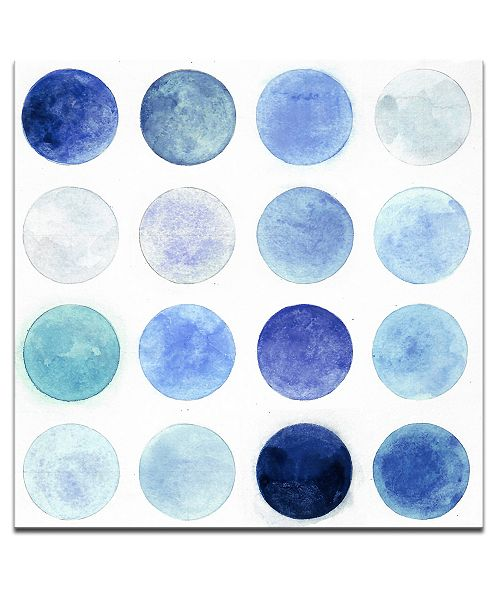 Ready2HangArt 'Blue Lunar I' Abstract Canvas Wall Art, 20x20""