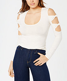 GUESS Panaya Twisted Cutout Top