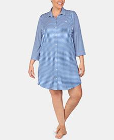 Lauren Ralph Lauren Plus Size Printed Sleepshirt