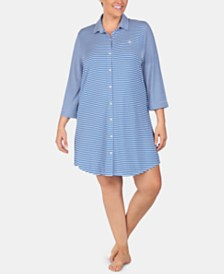 e1db64dff4413 Lauren Ralph Lauren Plus Size Printed Sleepshirt