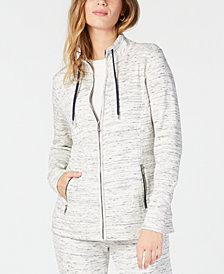 Charter Club Petite Space-Dyed Zip-Up Jacket, Created for Macy's