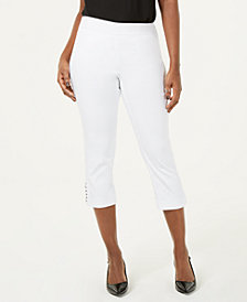 JM Collection Chain-Link Capri Pants, Created for Macy's