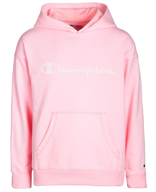 differently cf8aa 7d891 Champion Big Girls Mesh-Logo Frency Terry Hoodie