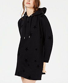 Material Girl Active Juniors' Star Sweatshirt Dress, Created for Macy's