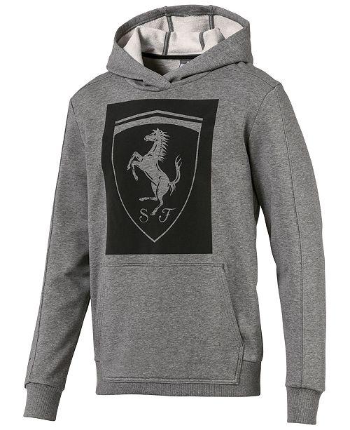 Puma Men's Ferrari Big-Shield Hoodie