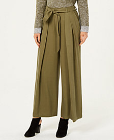 Eileen Fisher Belted Wide-Leg Pants