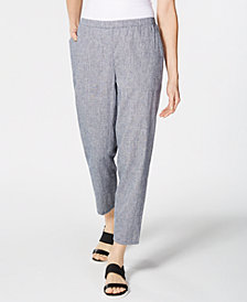 Eileen Fisher Pull-On Tapered-Leg Pants, Regular & Petite, Created for Macy's
