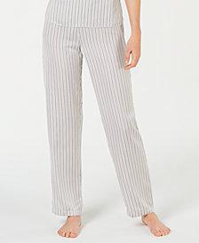 I.N.C. Satin Striped Pajama Pants, Created for Macy's