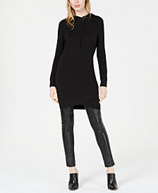 Bar III Hooded Sweatshirt Tunic Top, Created for Macy's