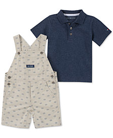 Tommy Hilfiger Baby Boys 2-Pc. Polo Shirt & Shortallls Set