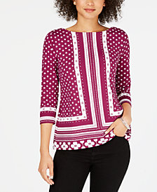 Charter Club Iconic Bateau Top, Created for Macy's