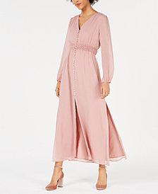 Bar III Smocked-Waist Maxi Dress, Created for Macy's