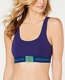 Calvin Klein Monogram Unlined Bralette QF4918, First at Macy's