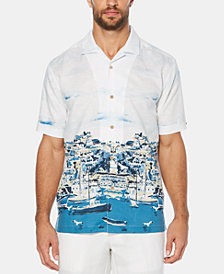 Cubavera Men's Dual Print Short-Sleeve Linen Shirt
