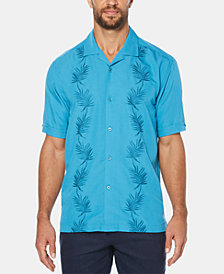 Cubavera Men's Big & Tall Leaf Panel Shirt-Sleeve Shirt