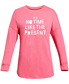 Under Armour Big Girls Graphic-Print Long-Sleeve T-Shirt