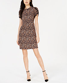 Nanette Lepore Printed Lace-Trim Dress, Created for Macy's