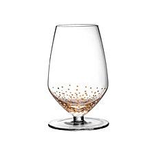 Jay Imports Gold Luster Set of 4 Sauvignon Wine Glasses