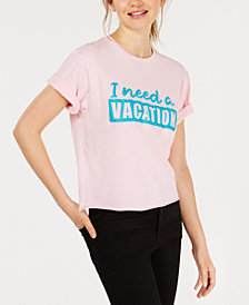 Rebellious One Juniors' I Need A Vacation T-Shirt