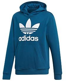 adidas Originals Big Boys Trefoil-Logo Hoodie