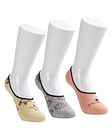 3-Pk. Princess Metallic Liner Socks
