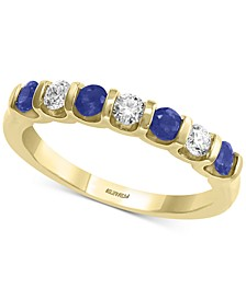EFFY® Sapphire (3/8 ct. t.w.) & Diamond (1/4 ct. t.w.) Band in 14k Gold
