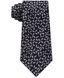 Calvin Klein Men's Slim Geo Floral Silk Tie