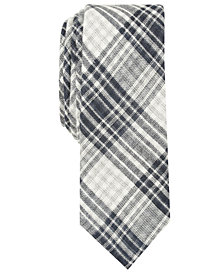 Original Penguin Men's Winston Skinny Plaid Tie