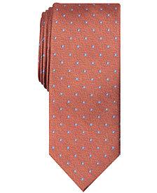 Tallia Men's Irwin Slim Herringbone Dot Tie