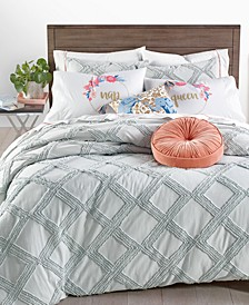 CLOSEOUT! Chenille Trellis 3-Pc. Full/Queen Comforter Set, Created for Macy's