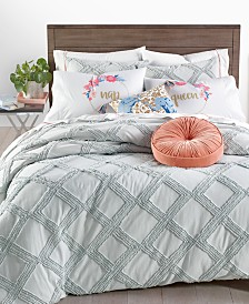 Whim by Martha Stewart Collection Chenille Trellis Comforter Sets, Created for Macy's