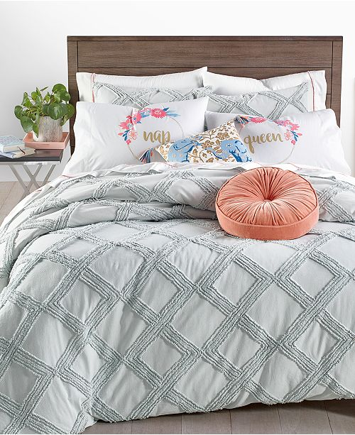 Martha Stewart Collection Chenille Trellis Comforter Sets, Created for Macy's