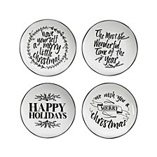 American Atelier Pillow Font Salad Plates, Set of 4