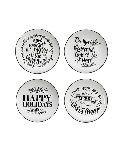 American Atelier CLOSEOUT! Pillow Font Salad Plates, Set of 4