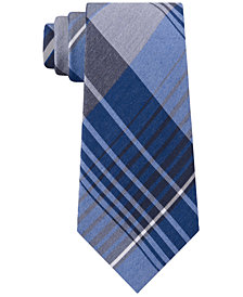 Kenneth Cole Reaction Men's Landmark Slim Plaid Tie