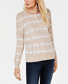 I.N.C. Cotton Tie-Dye Pullover Top, Created for Macy's