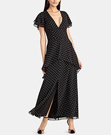 RACHEL Rachel Roy Polka-Dot Peplum Dress, Created for Macy's
