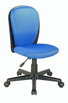 Bella Luna Fabric Back And Seat Youth Desk Chair