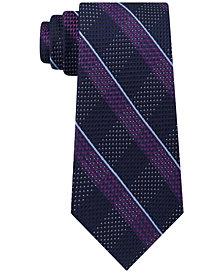 Michael Kors Men's Split Square Plaid Silk Tie