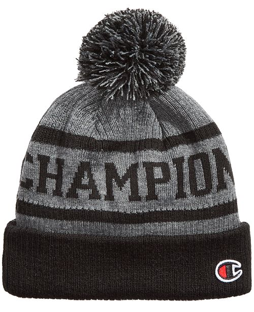 Champion Men s Cuffed Pom Pom Beanie - Hats 90a59c7577d