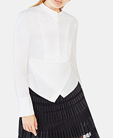 BCBGMAXAZRIA Cotton Kathryn Wrap Shirt