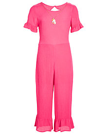 Belle Du Jour Big Girls 2-Pc. Jumpsuit & Necklace Set
