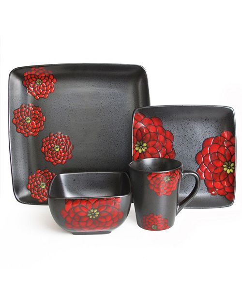Jay Imports American Atelier Asiana Red 16PC Set