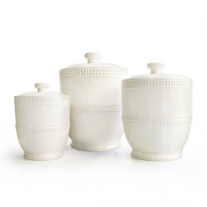 Image of American Atelier Bianca Bead Canister, Set of 3