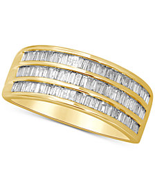 Diamond Baguette Three Row Ring (1/2 ct. t.w.) in 14k Gold
