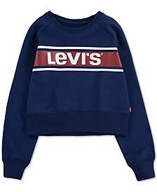 Levi's® Big Girls Cropped Sweatshirt