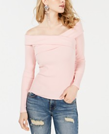 GUESS Emiliane Crisscross Off-The-Shoulder Top
